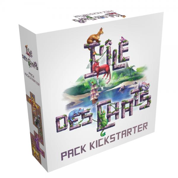 l'île des chats : pack kickstarter - extension boîte